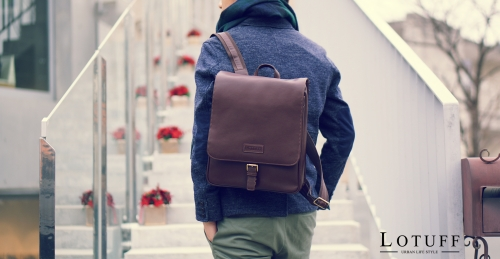 Leather Flip BackPack