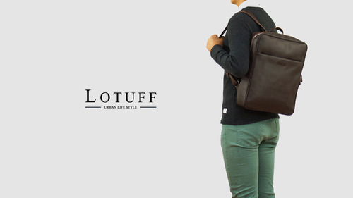 Leather Square Back Pack